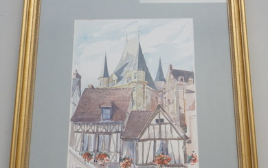 FRENCH WATERCOLOR BOURGES