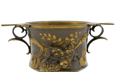 Ferdinand Barbedienne Bronze Cache Pot