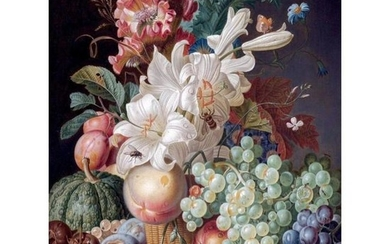 Floral & Fruit Still Life Porcelain Tile