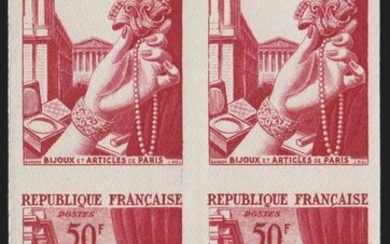 France 1954 - Jewellery, 1st project, unissued and imperforate. - Yvert n° 973A