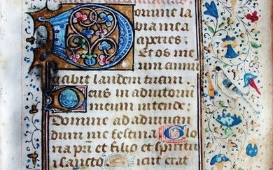 (French Atelier) - Manuscript; One leaf from a book of hours - XV century