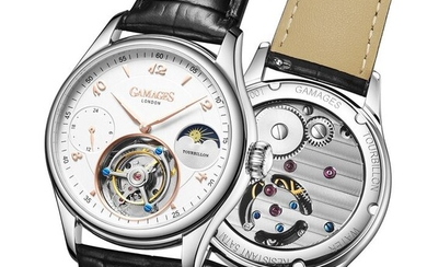 Gamages of London Watches - Limited Edition Hand Assembled GAMAGES OF LONDONTourbillon Automatic Steel/White/Rose - GA0058 - Men - 2011-present
