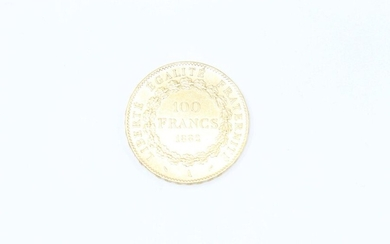 Gold coin of 100 francs Genie 1882 A