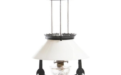 Hanging Kitchen Lamp With Iron Frame