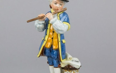 Herend Boy Playing the Flute Figurine, Masterpiece