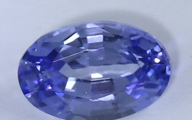 IGI Certified 1.03ct. Violetish Blue Synthetic Sapphire
