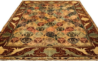 INDO-KASHAN WOOL CARPET, W 11', L 9'