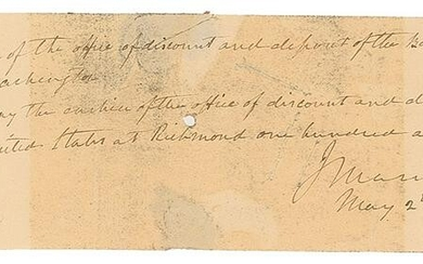 John Marshall Autograph Document Signed