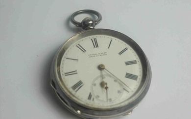 Kendal & Dent, Victorian Silver Cased Pocket Watch, Having a Subsidiary Seconds Dial