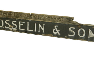 LONG EXTERIOR ADVERTISING STORE SIGN, EARLY 20TH C. MAINE