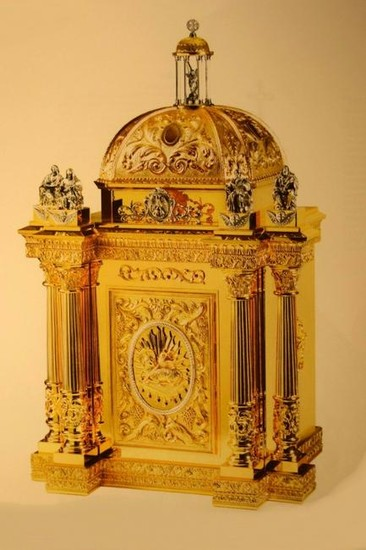 "Large Baroque Cathedral Tabernacle + 50"" tall, 29 3/4"""