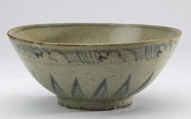 Late 18th c. Chinese blue & white Nanking bowl