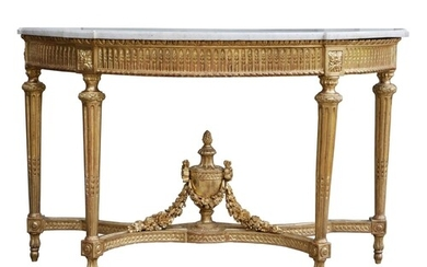 MANNER OF GEORGES JACOB, 18TH CENTURY LOUIS XVI GILTWOOD CON...