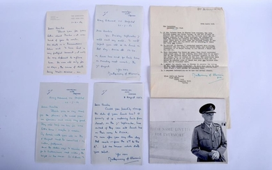 MILITARY INTEREST A collection of signed letters from