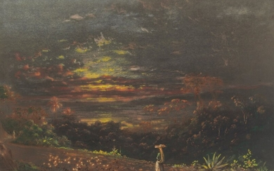 Michel Jean Cazabon (1813-1888), Sunset from Belmont Hill