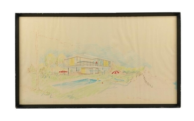 Mid Century Architectural Drawing