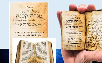 Miniature Siddur 1848 speical edition For people traveling to America