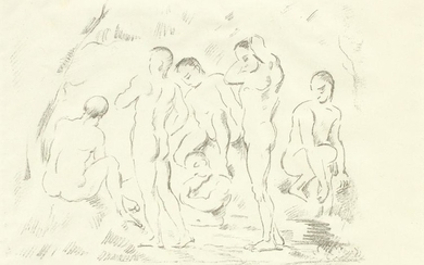 PAUL CEZANNE LITHOGRAPH ON PAPER, C. 1897