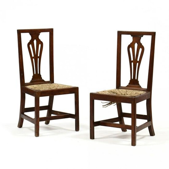 Pair of Federal Cherry Side Chairs
