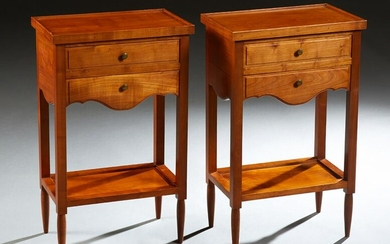 Pair of French Louis XVI Style Carved Cherry