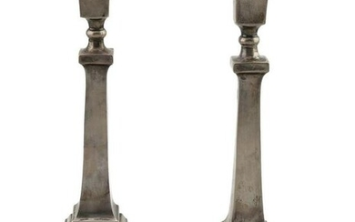 Pair of Sterling Silver Candle Stick Holders