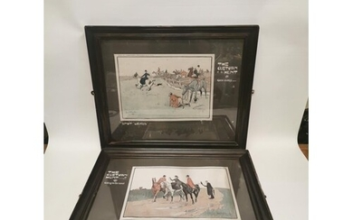 Pair of framed coloured Lionel Edwards hunting prints - The ...
