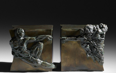 Philip and Kelvin LaVerne, Creation of Man occasional tables, pair