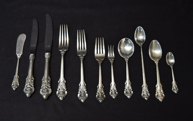 WALLACE GRAND BAROQUE STERLING FLATWARE