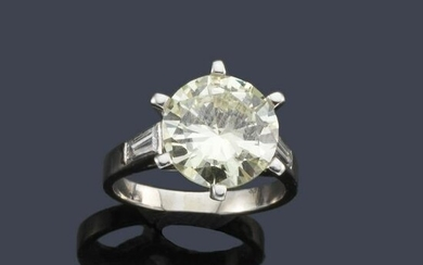 Ring with claw-set diamond