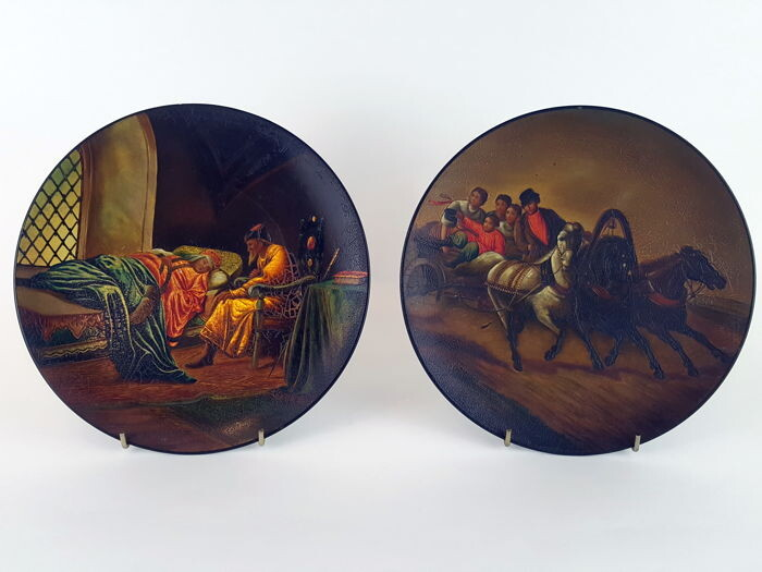 Russian Plaques - Papier-mache - Early 20th century