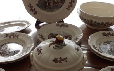 SARREGUEMINES - Dinner set, My Normandy (16) - Earthenware