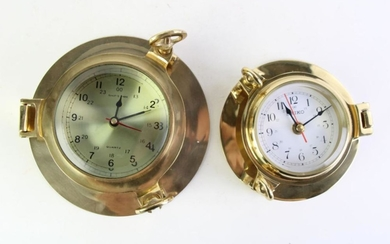 Seiko Porthole Style Clock together with another