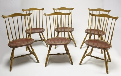 Six Dean and Cherry Lancaster Windsor Chairs