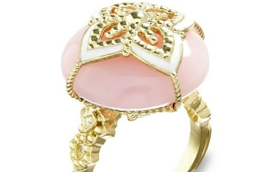 Stambolian Candy Ring with Pink Peruvian Opal Center