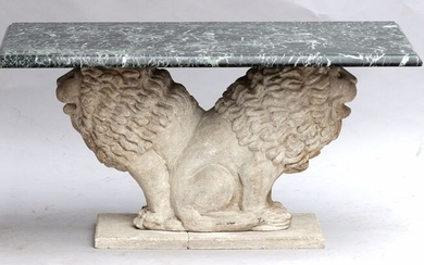 Superb garden or indoor coffee table - Marble, Stone (mineral stone) - 20th century