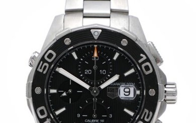 NOT SOLD. TAG Heuer: A gentleman's wristwatch of steel. Model Aquaracer, ref. CAJ2110. Mechanical chronograph...