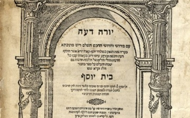 Tur - Beit Yosef, Yoreh Deah Section. Printed in the Author's Lifetime. Venice, 1574