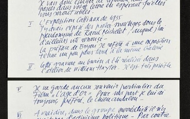 UBAC, Raoul Lettre aut. s. Dieudonne 19/10/1975 4 pp. on 2 ff., 13.5 x 21 cm. Interesting letter in which the Belgian artist (1910-1985) systematically answers various questions from an unidentified researcher. He successively evokes the Cattiaux...