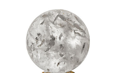 Very Large and Impressive Rock Crystal Quartz Sphere