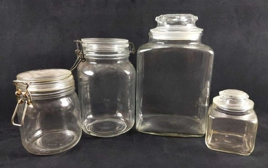 Vintage Glass Container Lot of 4