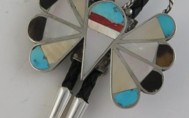 Vintage Quality Sterling Silver Butterfly Shaped Mosaic