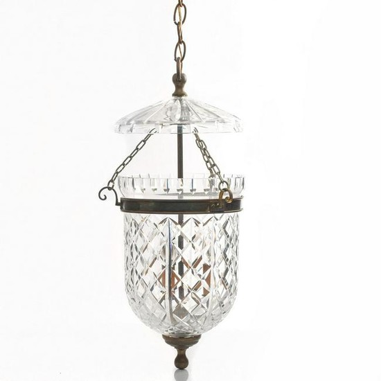 Waterford Crystal Bell Jar Pendant, How To Hang A Heavy Crystal Chandelier