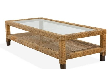 Wicker Wrapped Coffee Table
