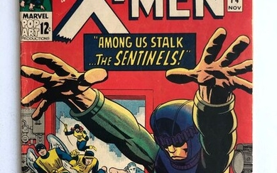 X-Men #14 - 1st Appearance Of The Sentinels - Mid Grade!!! - Key Book!!! - Softcover - First edition - (1965)