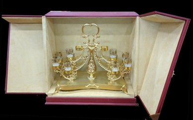 10 Shot Glass with Serving Tray and Box