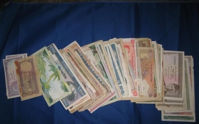 100 various Bank Notes from countries all over the World