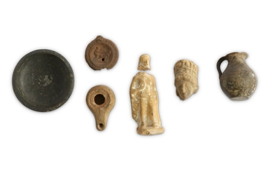 A GROUP OF ANCIENT TERRACOTTA PIECES