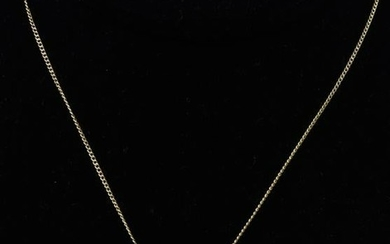14kt Yellow Gold Necklace Chain w Pearl Pendant