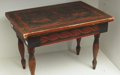 1900S EUROPEAN WOODEN HAND PAINTED STAND