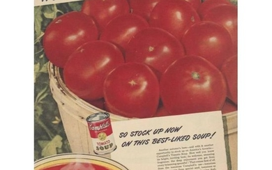1940's Campbell's Tomato Soup Advertisement, Kitchen